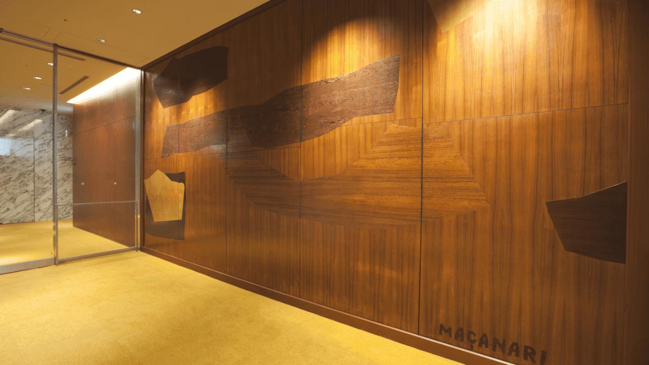 4階ホールロビー 村井正誠「イイノホールのための壁画」(寄木)